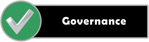 Section header image, black bar with Governance in white letters