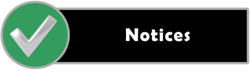 Section header image, black bar with Notices in white letters